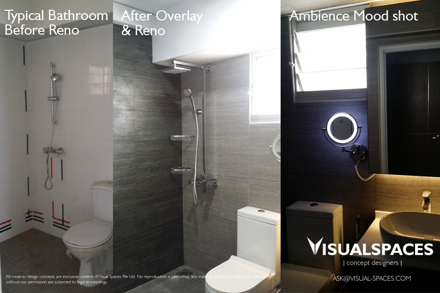 Renovation of a hdb 5 room flat in punggol walk visual spaces pte ltd Hdb master bedroom toilet design